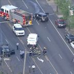 Chopper 6 over serious crash in Philadelphia's Mayfair section on May 27, 2020.