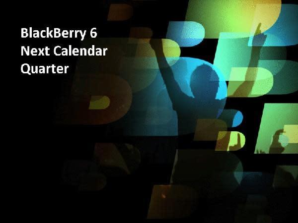 BlackBerry 6 coming in third quarter of this year
