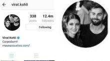 Virat Kohli takes romance with Anushka Sharma a notch higher, changes his Instagram DP