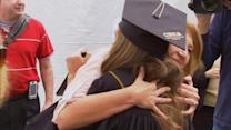 Graduation for woman whose birth saved sister