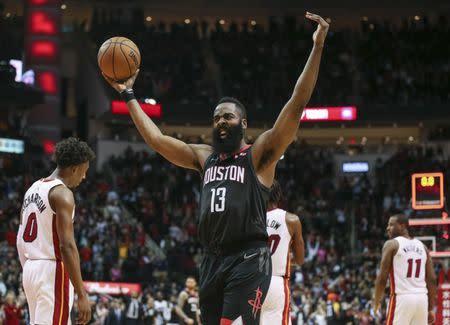 a2549090d5ce NBA roundup  Harden (58) rallies Rockets past Heat