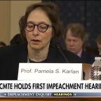 Impeachment witness professor Pamela Karlan: President Trump must be held to account