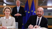 Los líderes de la UE firman el acuerdo del 'Brexit' a falta de su ratificación por la Eurocámara
