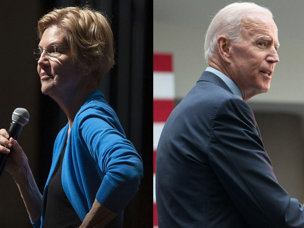 Warren's new bankruptcy plan may spark a clash with Biden