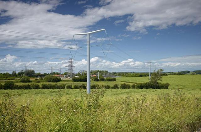 Britain's new electricity 'T-pylons' carry power with style