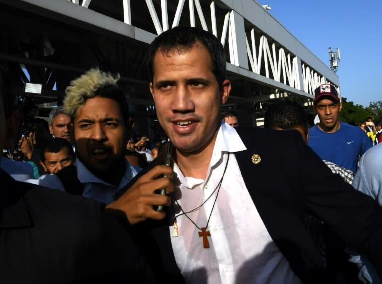 Venezuela opposition leader Guaidó returns home after tour