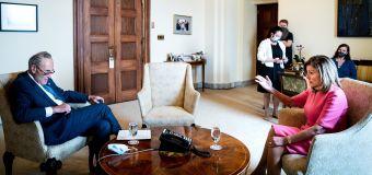 Pelosi's playing hardball in relief talks. Can she win?