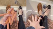 Man's 'unsettling' bathtub video leaves social media in shambles: 'Are you OK?'
