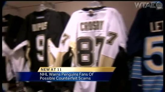 NHL warns Pens fans to look out for counterfeit merchandise