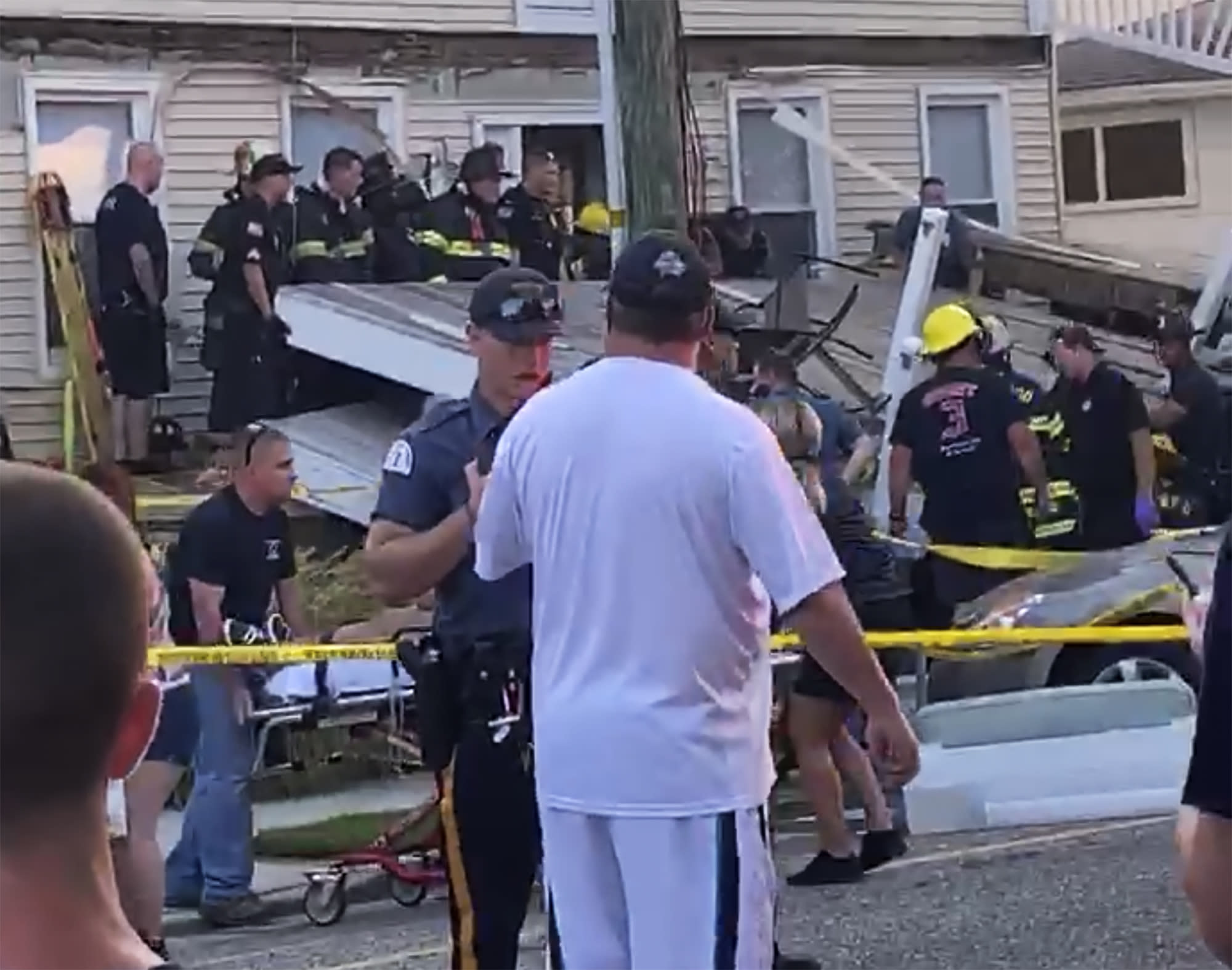 At least 22 people injured in deck collapse