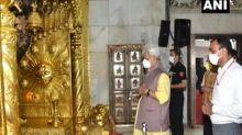 J-K LG Manoj Sinha pays obeisance at Mata Vaishno Devi Shrine, inspects facilities for pilgrims