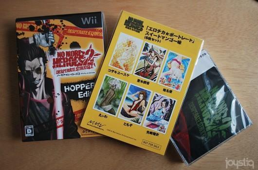 Joyswag: Grasshopper Manufacture prize pack -- with NMH2 Hopper's Edition, OST & erotic comic