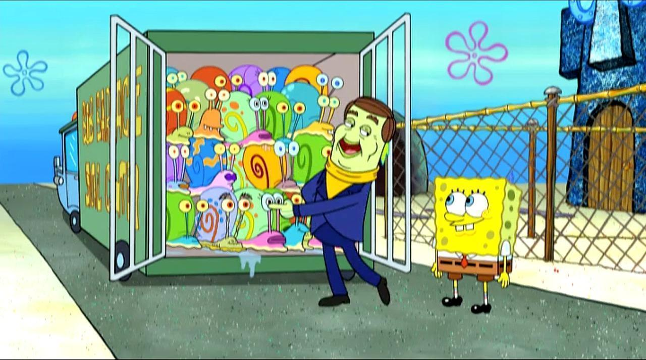 spongebob squarepants u0027 sneak peek bob barker comes to the snail