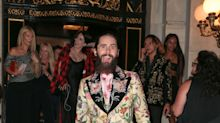 Even among an iconic crowd, you can't unsee Jared Leto's suit at this Fashion Week party
