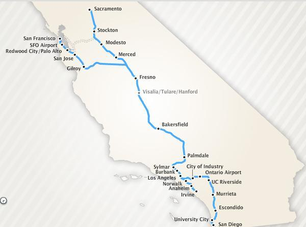 California high-speed train system to link NorCal and SoCal at 220mph