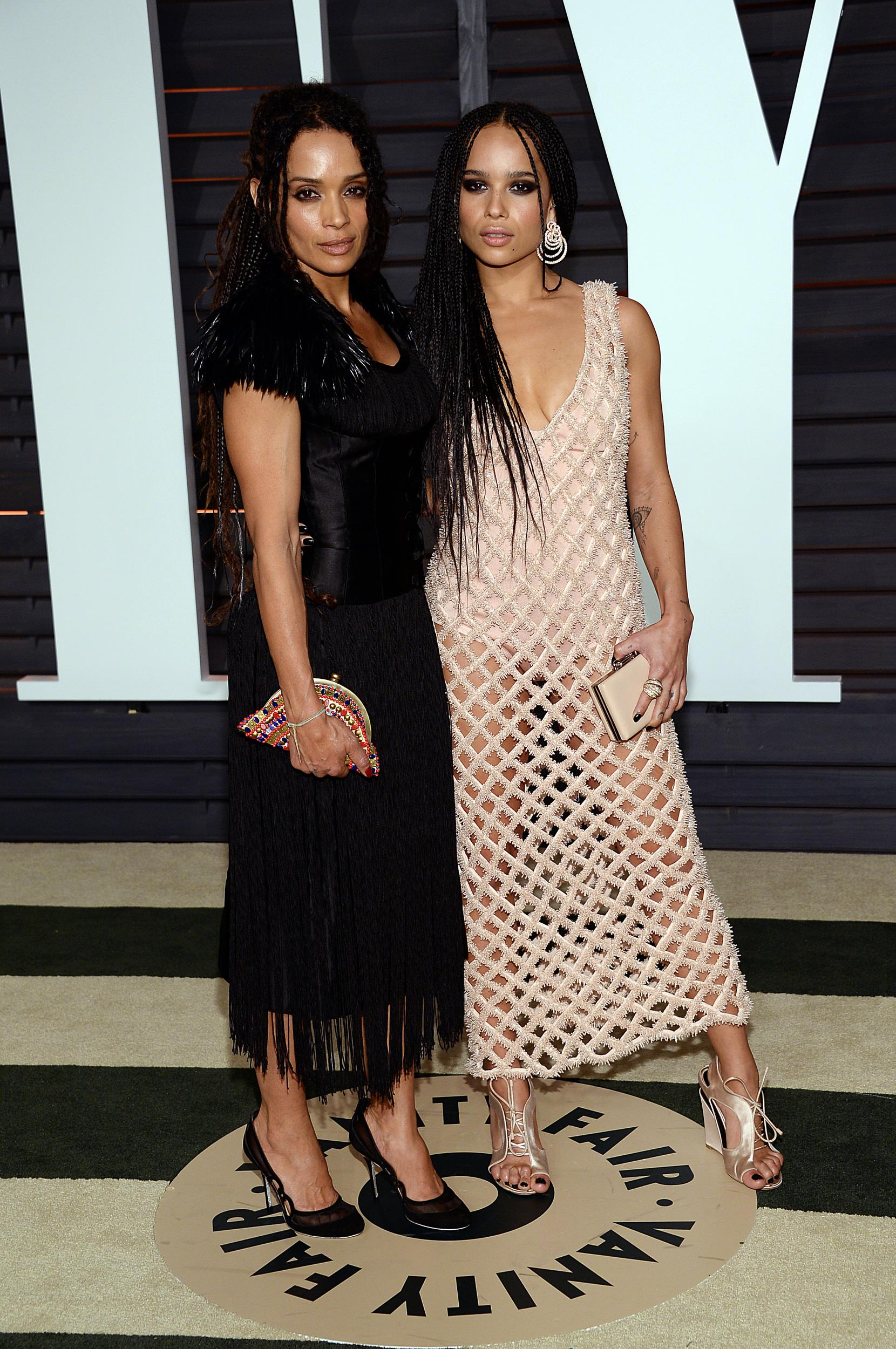 Lisa Bonet, left, and Zoe Kravitz arrive at the 2015 Vanity Fair Oscar Party on Sunday, Feb. 22, 2015, in Beverly Hills, Calif. (Photo by Evan Agostini/Invision/AP)