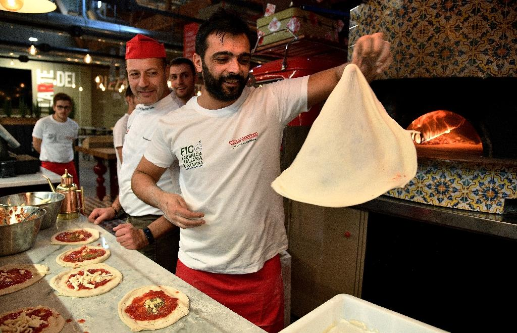 Pizza bakers will show off their skills at the park which is ten hectares in size (AFP Photo/Vincenzo PINTO)