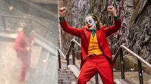 WATCH: Resident Secretly Filmed Joaquin Phoenix Shooting the Iconic Stair Dance from 'Joker'