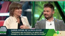 """""""¿Qué?"""": La respuesta de Gabriel Rufián en 'LaSexta Noche' que dejó estupefacta a Nativel Preciado"""
