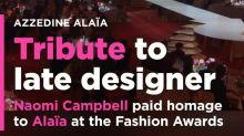 Naomi Campbell and supermodel 'sisters' deliver emotional tribute to Azzedine Alaïa at the Fashion Awards