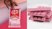 KitKat lança uma versão limitada rosa do chocolate