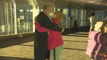 She was in China, he was in Canada. This couple reunited after being separated for 9 months due to COVID-19