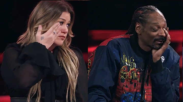 Kelly, mentor Snoop get emotional on 'The Voice'