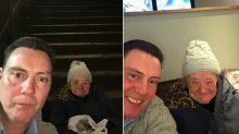 Builders halt their Christmas party to help homeless woman, 71, and pay for her to stay in a hotel