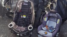 This mum's viral car crash photo is serving as a reminder about the importance of car seat safety