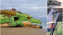 【新片速報】法國沙灘木屋變《龍珠》神龍 街頭藝術家超強創作