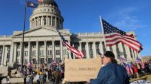 Proud Boys and Black Lives Matter supporters clash at Utah rally