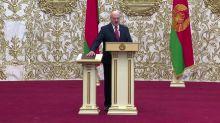 Belarus abruptly swears in Lukashenko