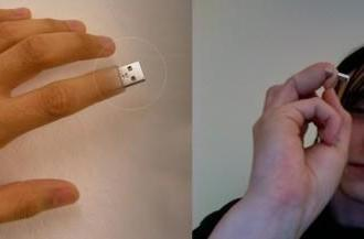 USB finger drive concept attempts to keep up with reality