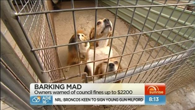 Fines for owners of barking dogs