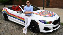 BMW supports Pride Week with colorful Jonathan Adler 8 Series Convertible