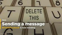 #DeleteFacebook is trending because Facebook users are livid about the poor handling of Cambridge Analytica's data harvesting (FB)