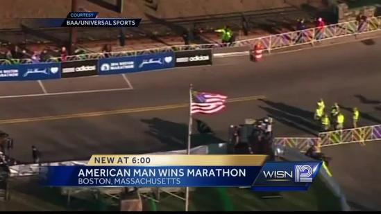 Wisconsin runners show their support for 'Boston Strong'