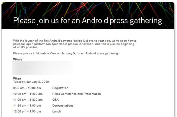 Google announces Android press conference for January 5th