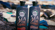 P&G debuts shampoo bottles made from beach plastic