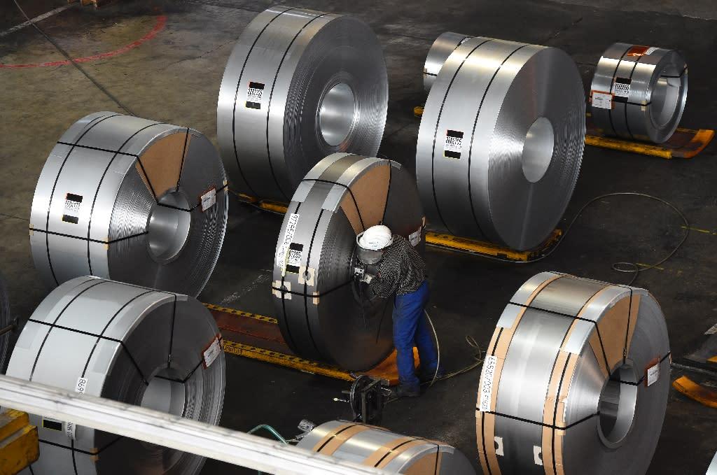 A steely riposte from Europeans to Washington's metal tariffs (AFP Photo/Tobias SCHWARZ)