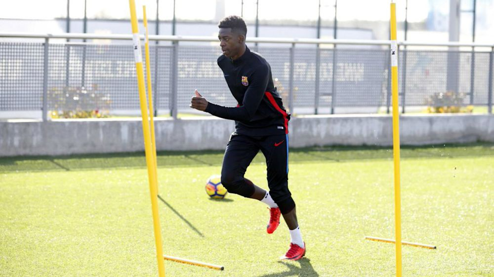 Dembele makes first Barcelona start since September