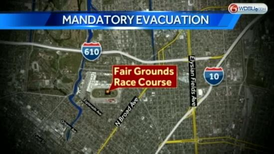 Tropical system threat forces Fair Ground officials to declare mandatory evacuation