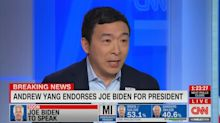 Andrew Yang endorses Biden, calls him 'prohibitive nominee' after primary wins