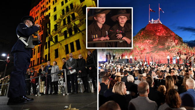 Anzac Day: Thousands attend dawn services around the country