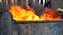 There Was A Literal Dumpster Fire On New Year's Eve In Kelowna