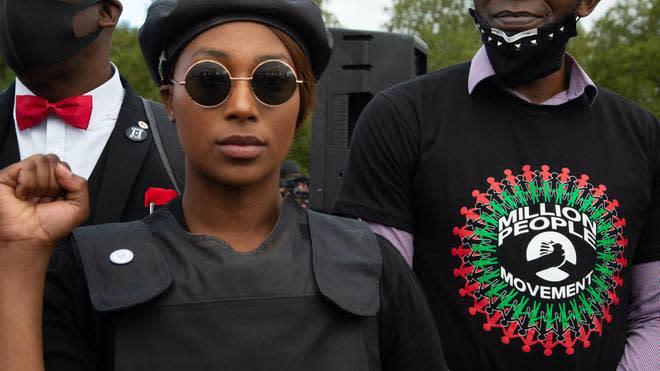 BLM activist Sasha Johnson shot in London