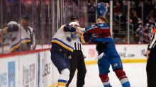 LISTEN: Altitude Radio's Conor McGahey's call of fight between Avalanche's Gabe Landeskog and Blues' Brayden Schenn