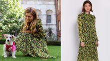 Boris Johnson's girlfriend Carrie Symonds wears £100 Ghost dress to introduce rescue puppy