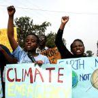 Hundreds of Ugandan children hold climate strike