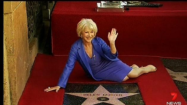 Helen Mirren receives star on Walk of Fame